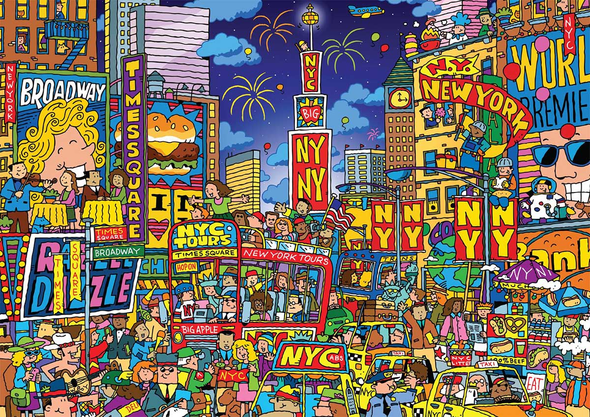 Times Square Cartoons Jigsaw Puzzle
