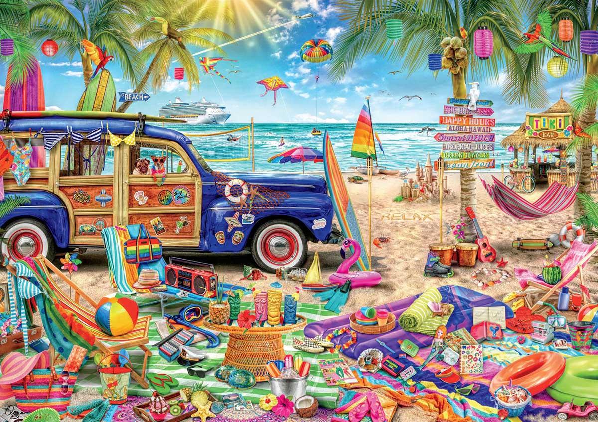 Beach Vacation Beach Jigsaw Puzzle