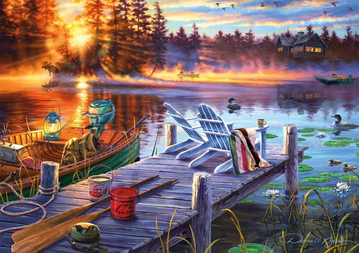 Morning Magic Fishing Jigsaw Puzzle