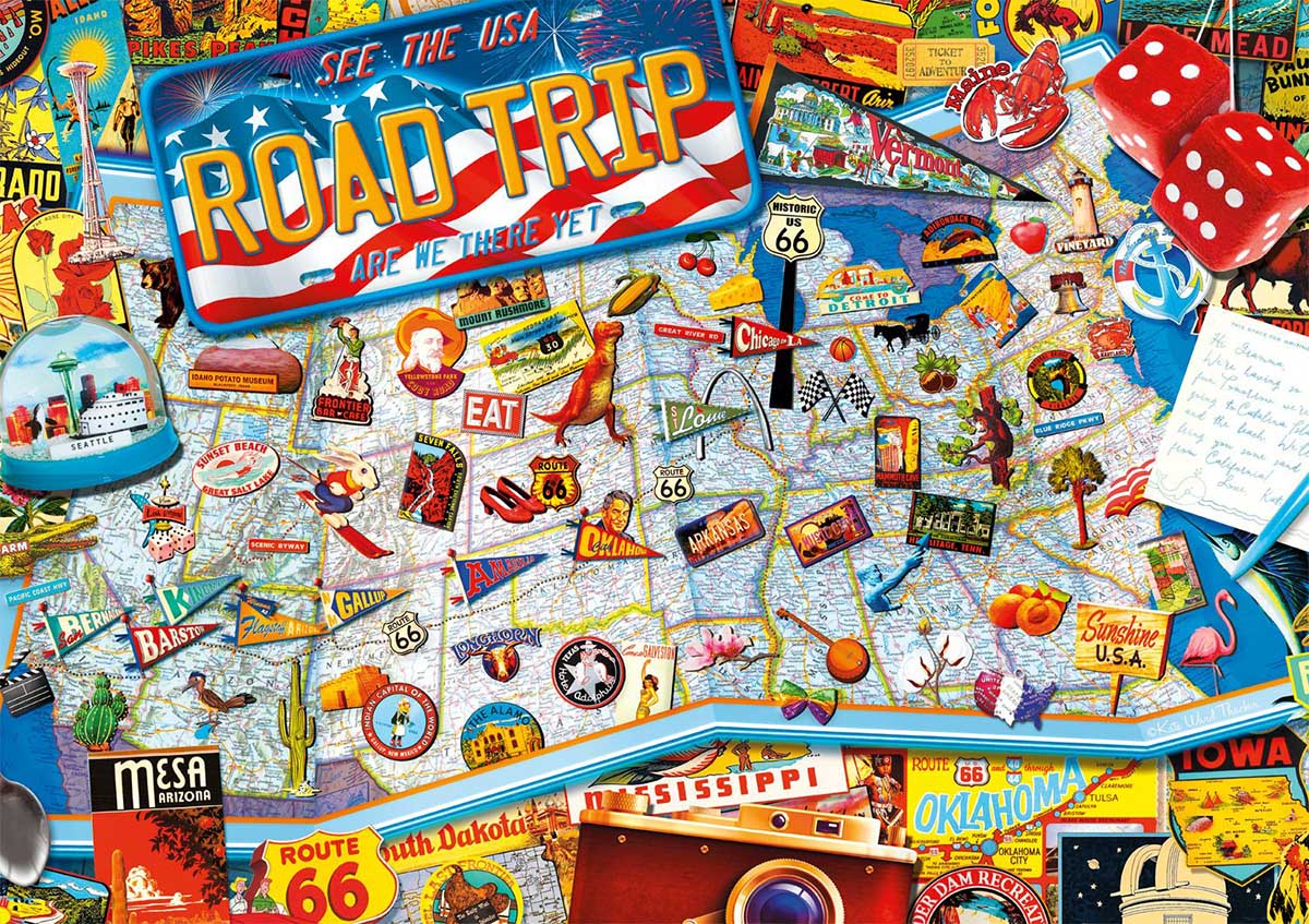 Road Trip - Scratch and Dent Travel Jigsaw Puzzle