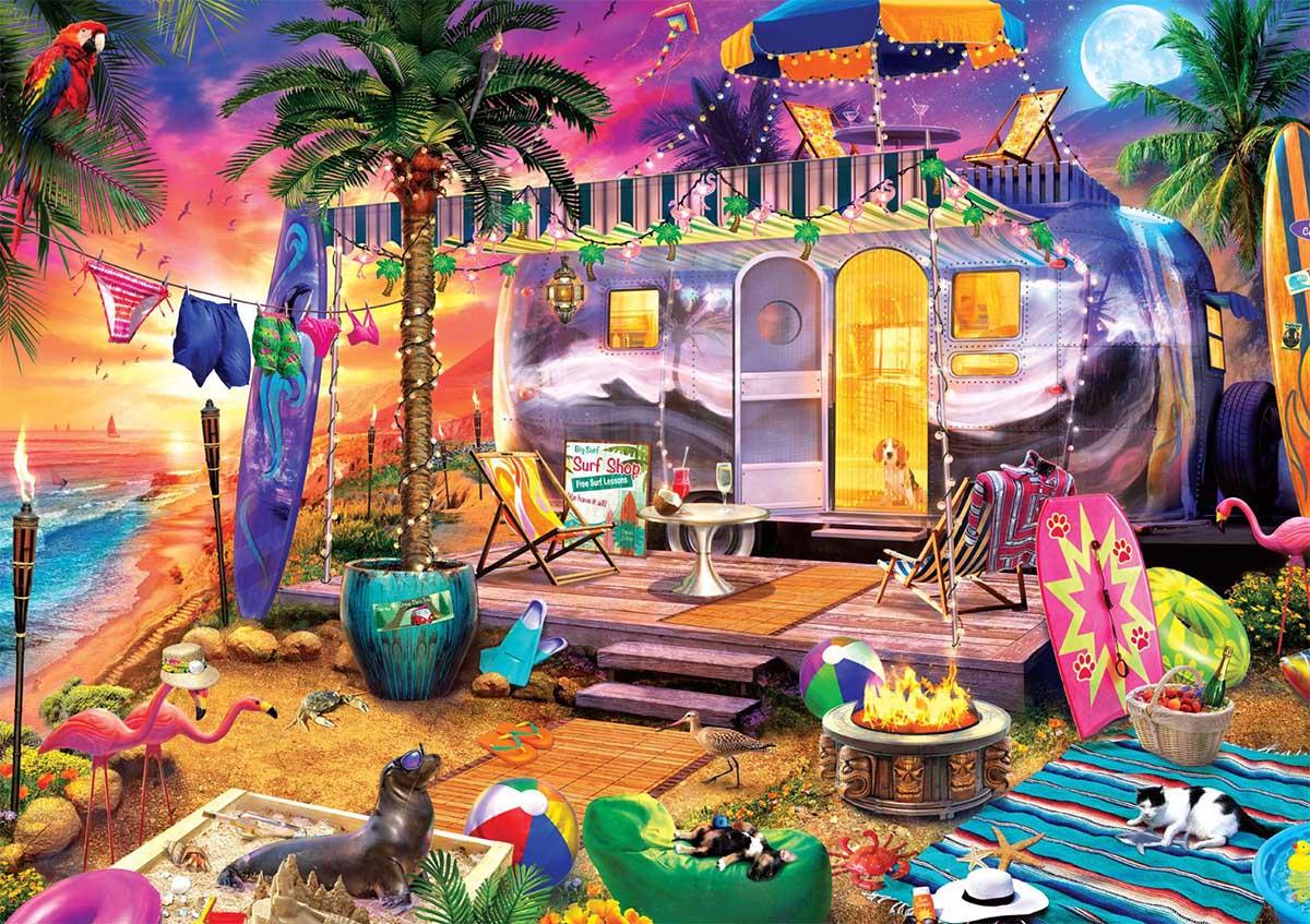 Beach Holiday Beach Jigsaw Puzzle