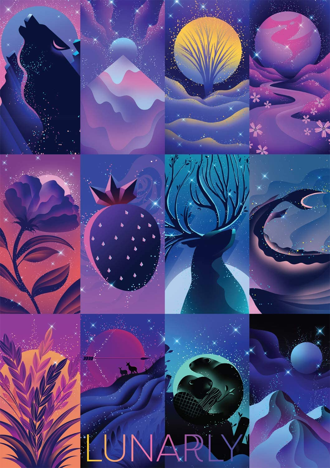 Lunarly: The Twelve Moons Space Jigsaw Puzzle
