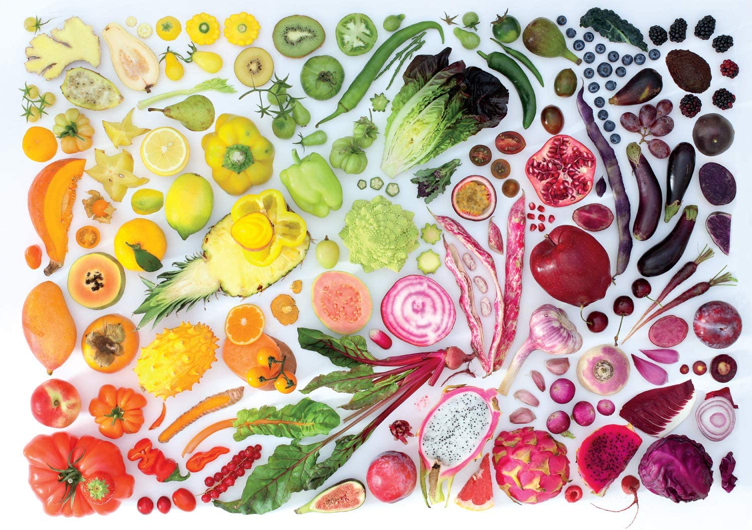 Eat the Rainbow Food and Drink Jigsaw Puzzle
