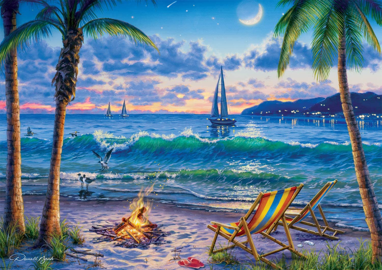 Coastal Twilight Beach Jigsaw Puzzle