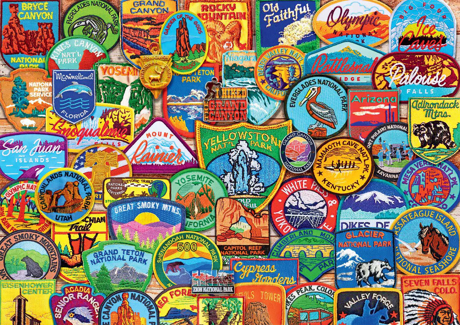 National Park Patches Collage Jigsaw Puzzle