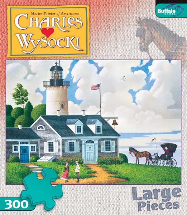 Charles Wysocki - Lighthouse Keeper's Daughter Jigsaw Puzzle