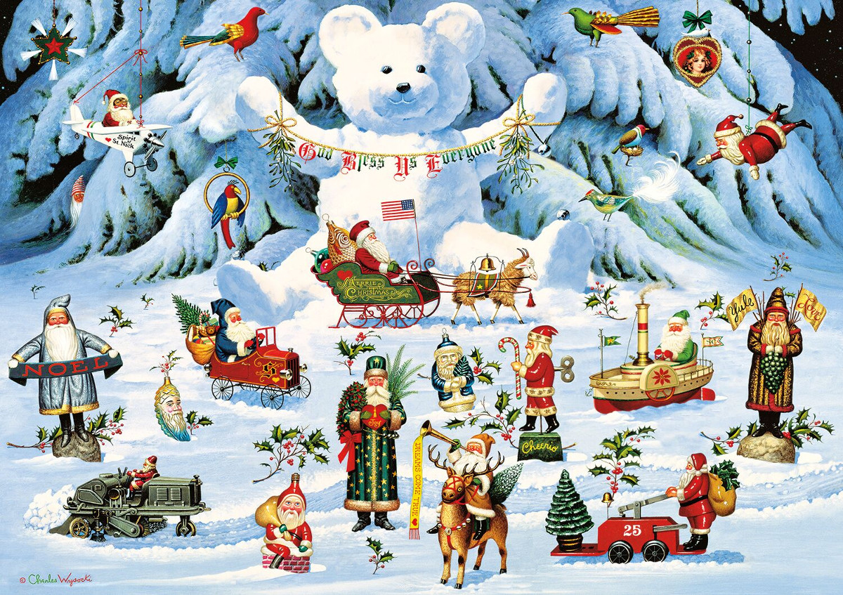 Jingle Bell Teddy & Friends Christmas Jigsaw Puzzle