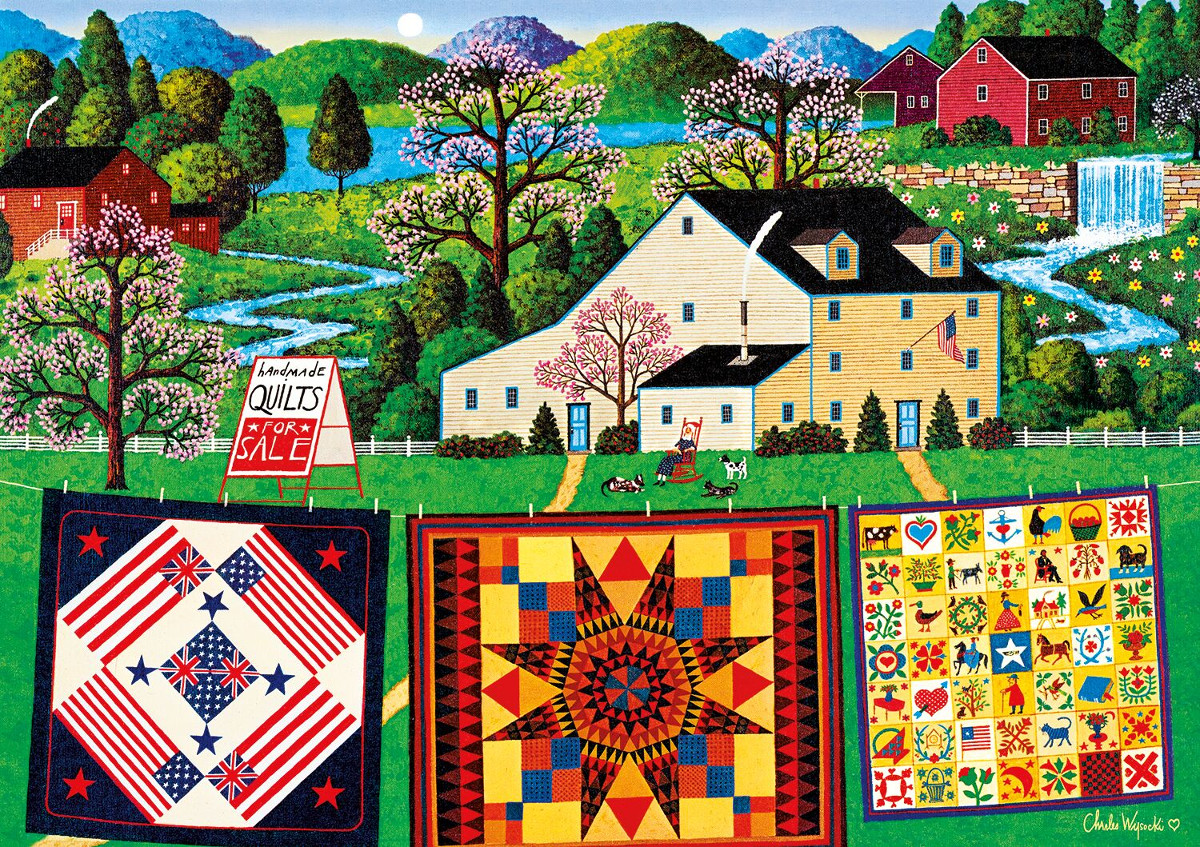 The Quiltmaker Lady Crafts & Textile Arts Jigsaw Puzzle