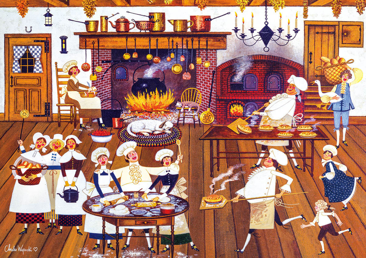 Singing Piemakers Americana & Folk Art Jigsaw Puzzle