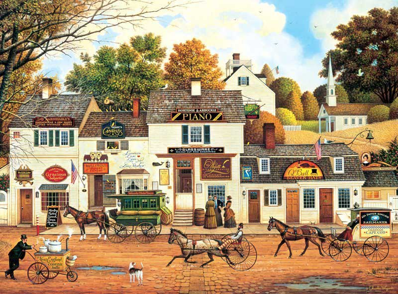 Olde Cape Cod Americana & Folk Art Jigsaw Puzzle
