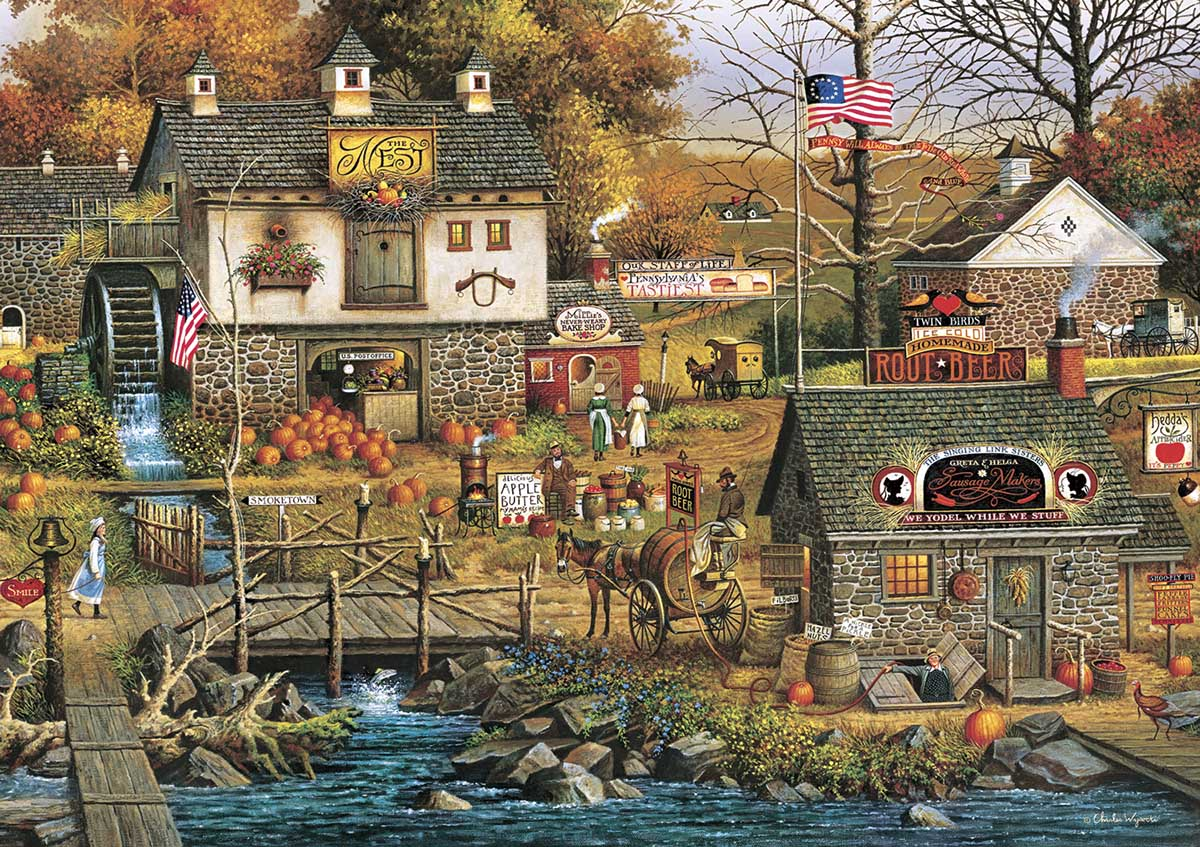 Olde Buck's County Fall Jigsaw Puzzle