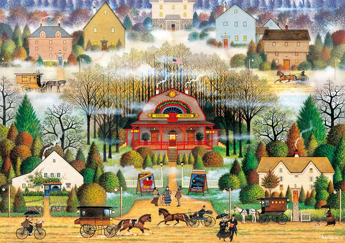 Melodrama in the Mist Americana & Folk Art Jigsaw Puzzle