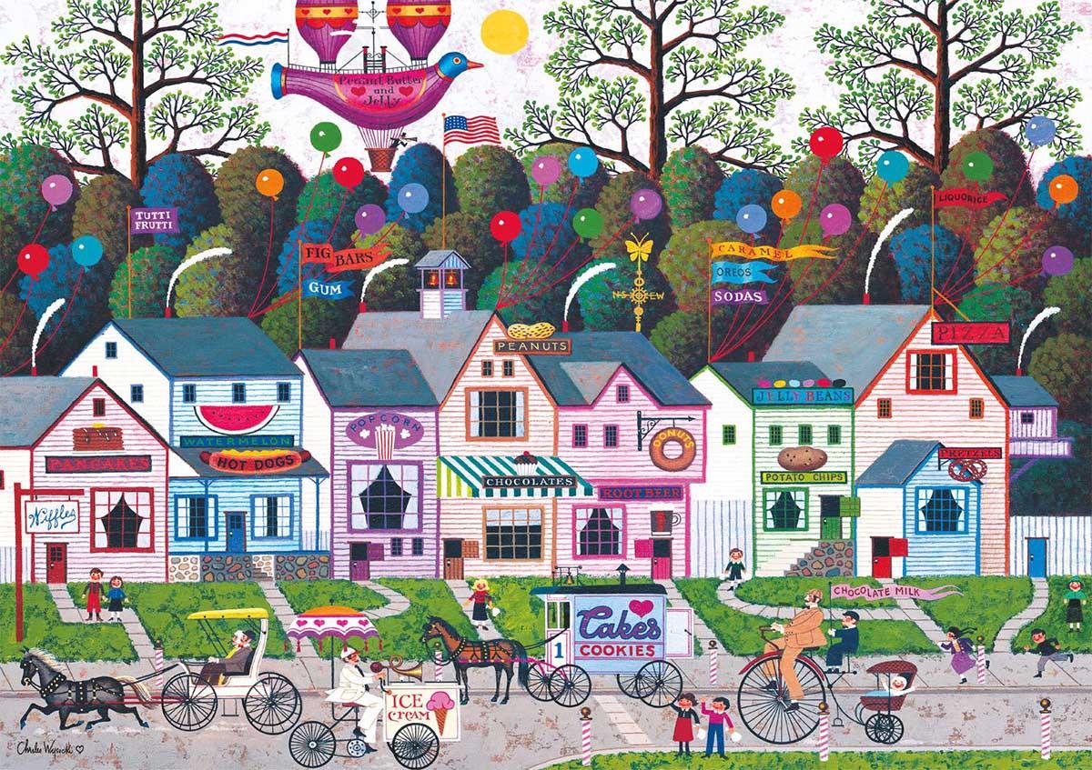 Confection Street Americana & Folk Art Jigsaw Puzzle