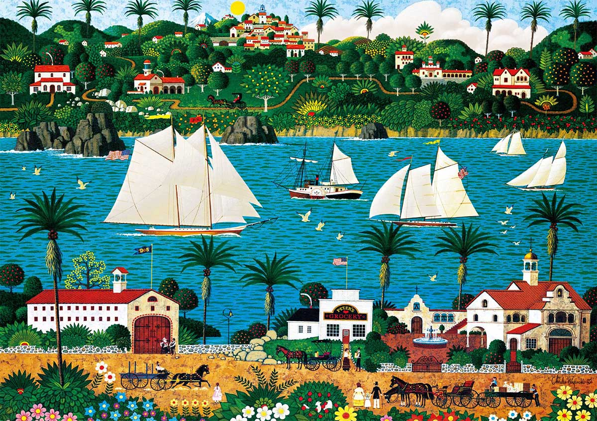 Old California Boats Jigsaw Puzzle