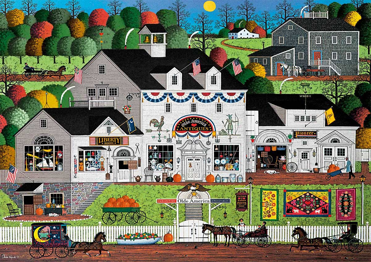 Olde America Americana & Folk Art Jigsaw Puzzle
