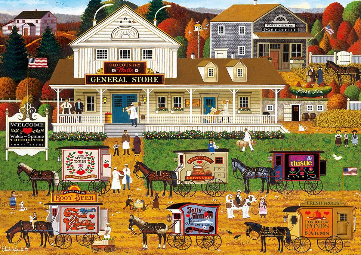Storin Up Fall Jigsaw Puzzle