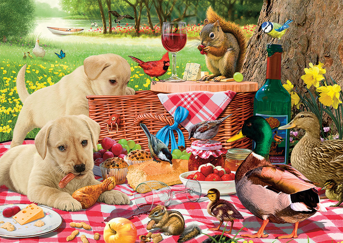 Picnic Raiders Animals Jigsaw Puzzle