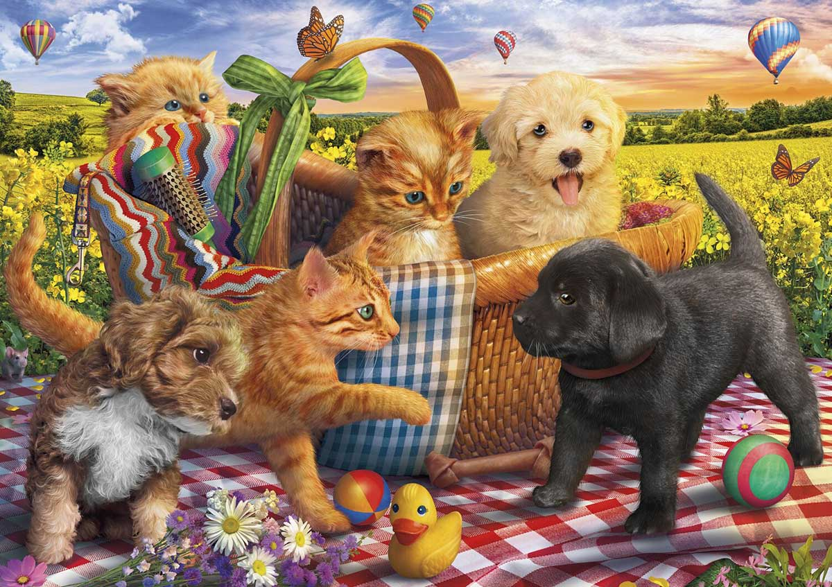 Picnic Pals Cats Jigsaw Puzzle