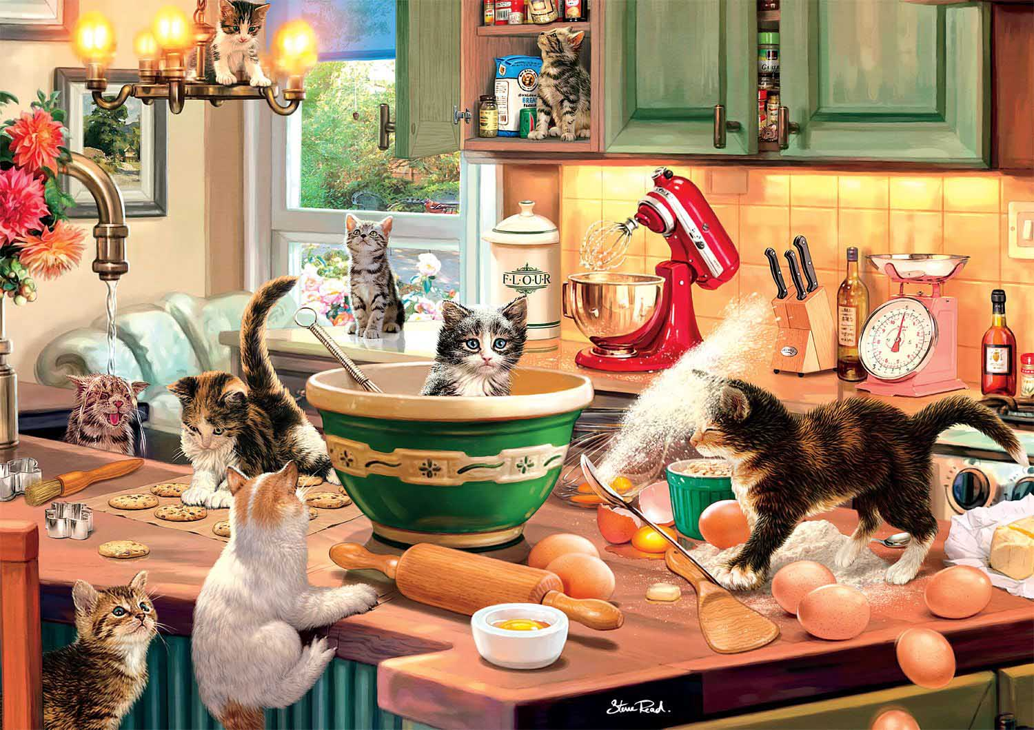 Kitten Kitchen Capers Cats Jigsaw Puzzle
