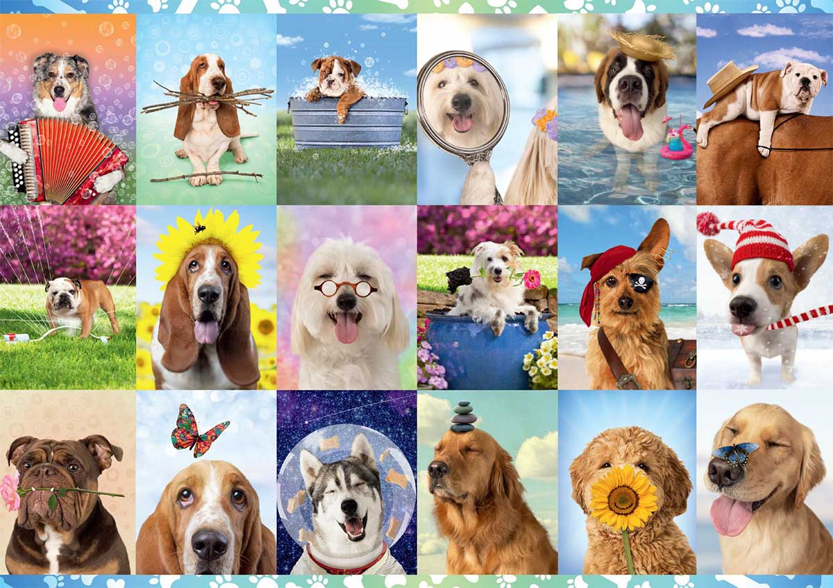 It's a Ruff Life Dogs Jigsaw Puzzle