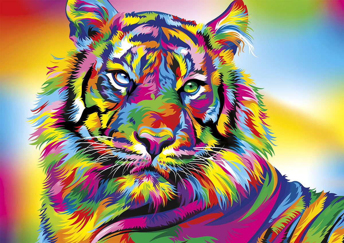 Tiger Stripes Jungle Animals Jigsaw Puzzle