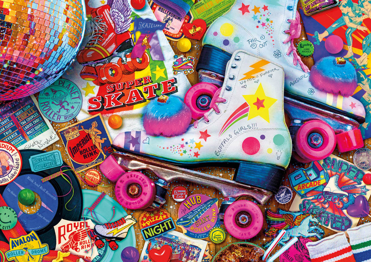 Skate Night - Scratch and Dent Jigsaw Puzzle