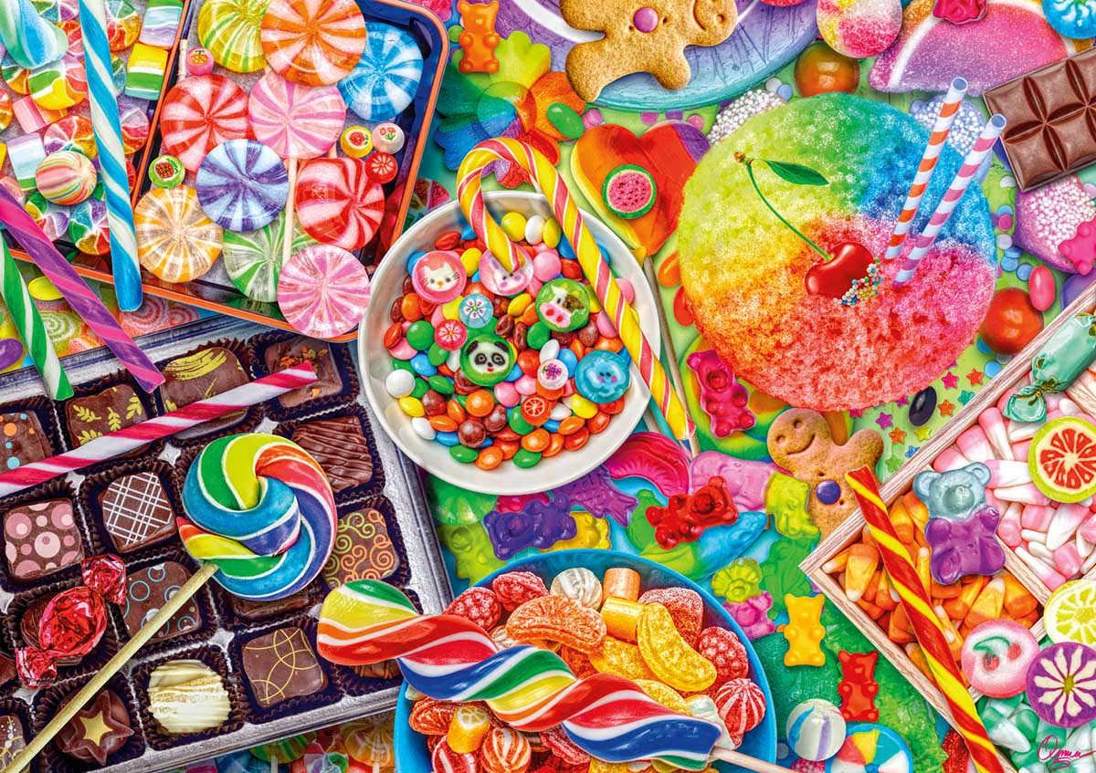 Candylicious Food and Drink Jigsaw Puzzle