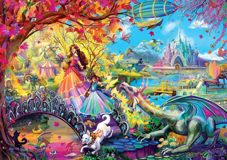Autumn Castle Festival Castles Jigsaw Puzzle