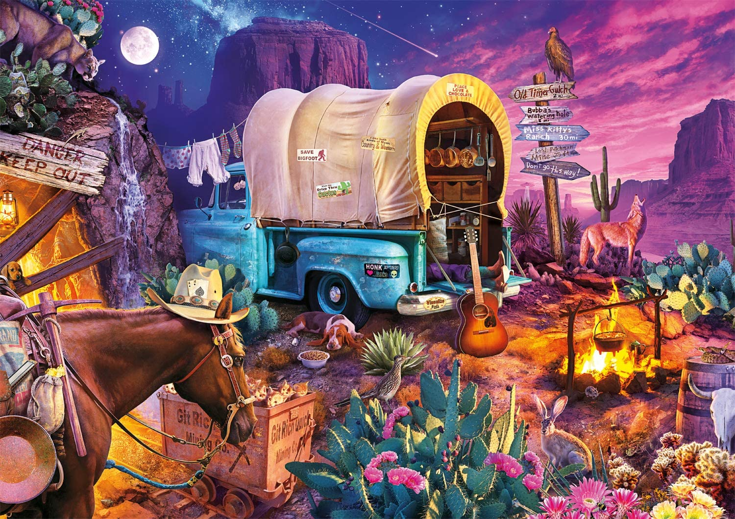 Wild West Camp Countryside Jigsaw Puzzle
