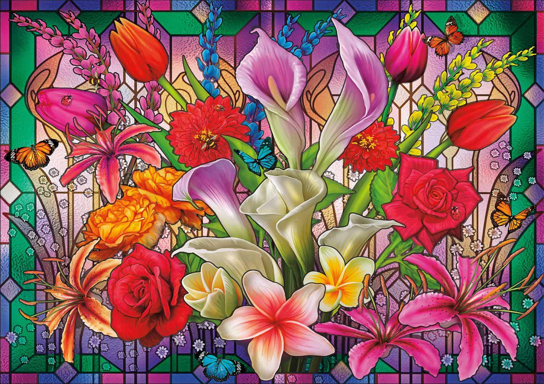 Window Lillies Flowers Jigsaw Puzzle