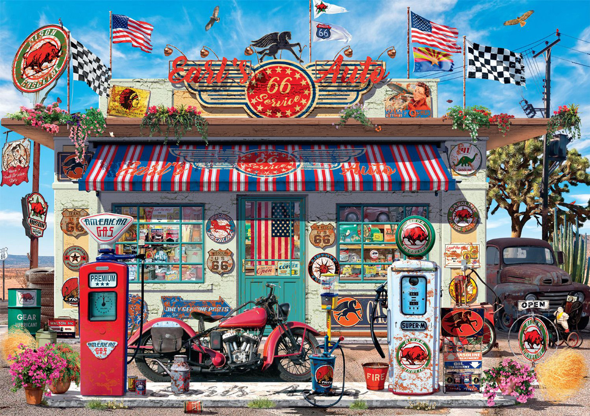 Earl's Auto Cars Jigsaw Puzzle