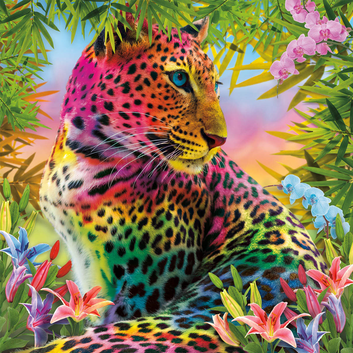 Wild Colors Animals Jigsaw Puzzle