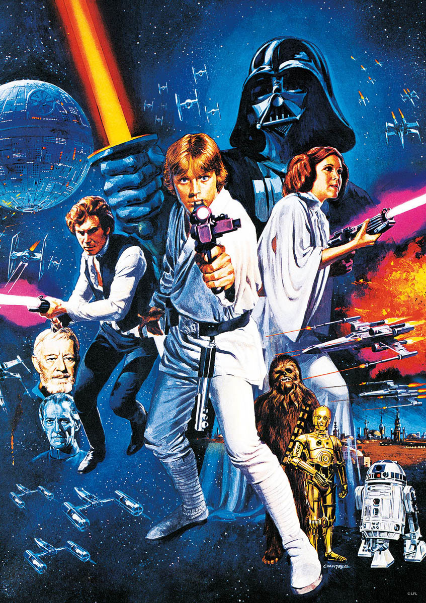 Star Wars™ A New Hope Movies / Books / TV Jigsaw Puzzle