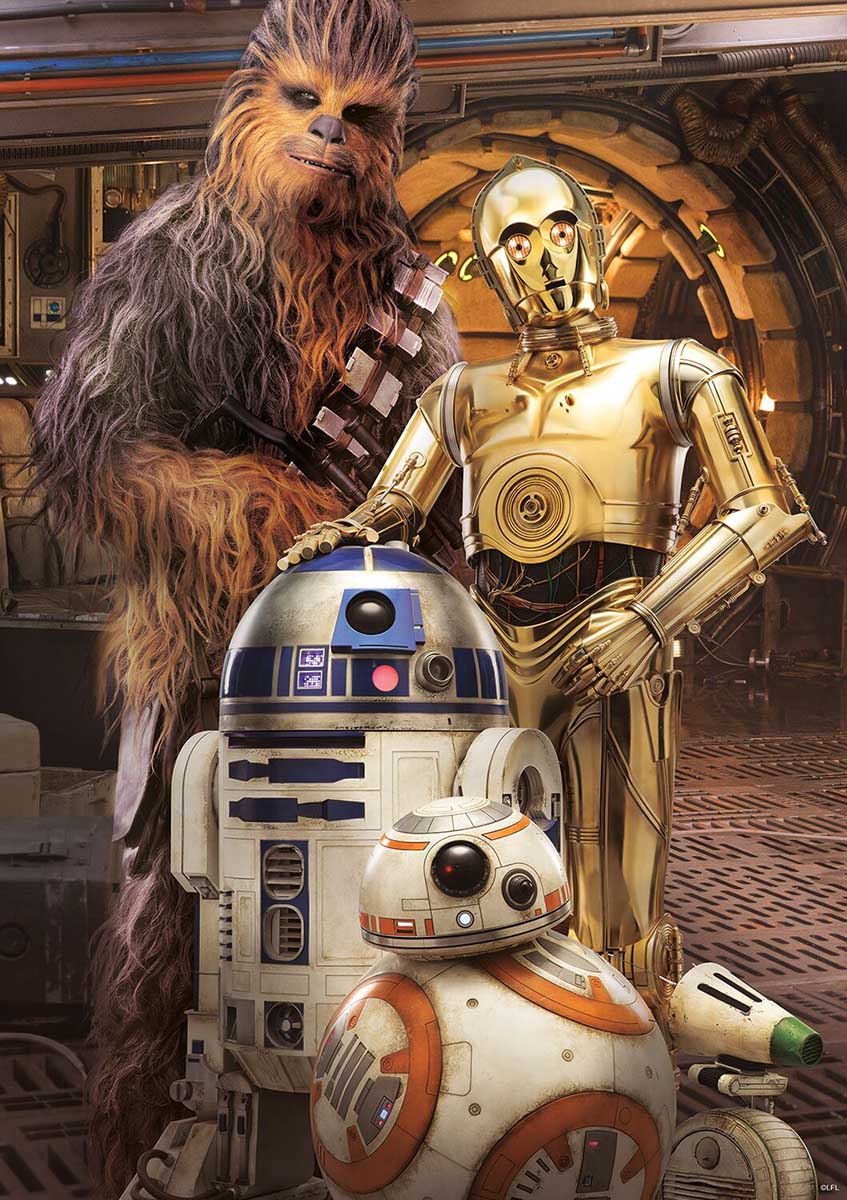 Chewbacca and the Droids Star Wars Jigsaw Puzzle
