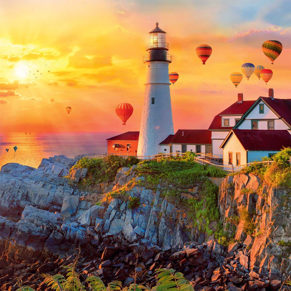 Safe Passage Lighthouses Jigsaw Puzzle