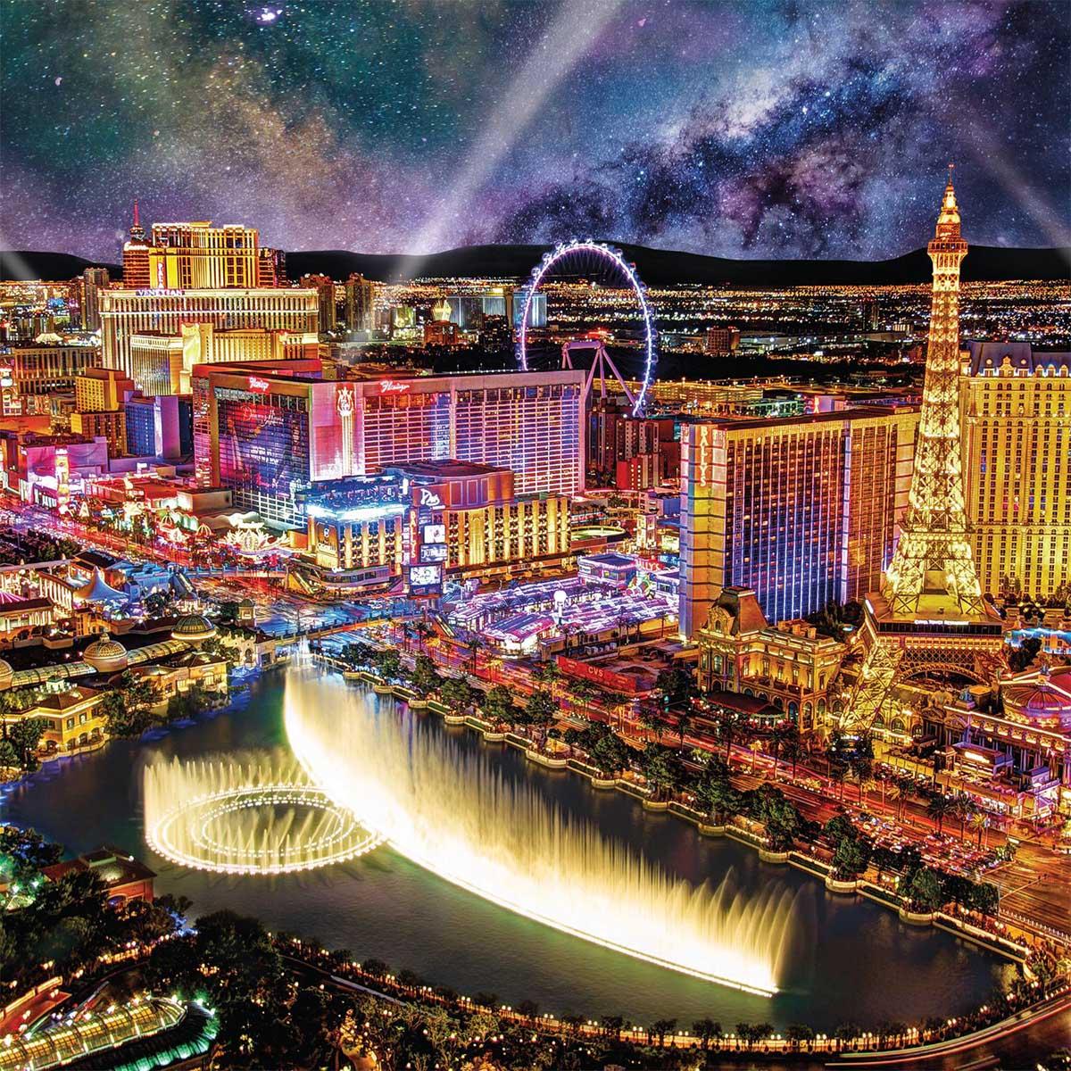 Las Vegas Night Las Vegas Jigsaw Puzzle