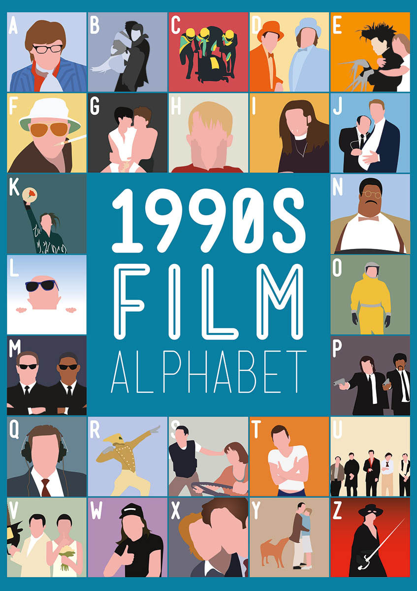 1990's Film Alphabet Movies / Books / TV Jigsaw Puzzle