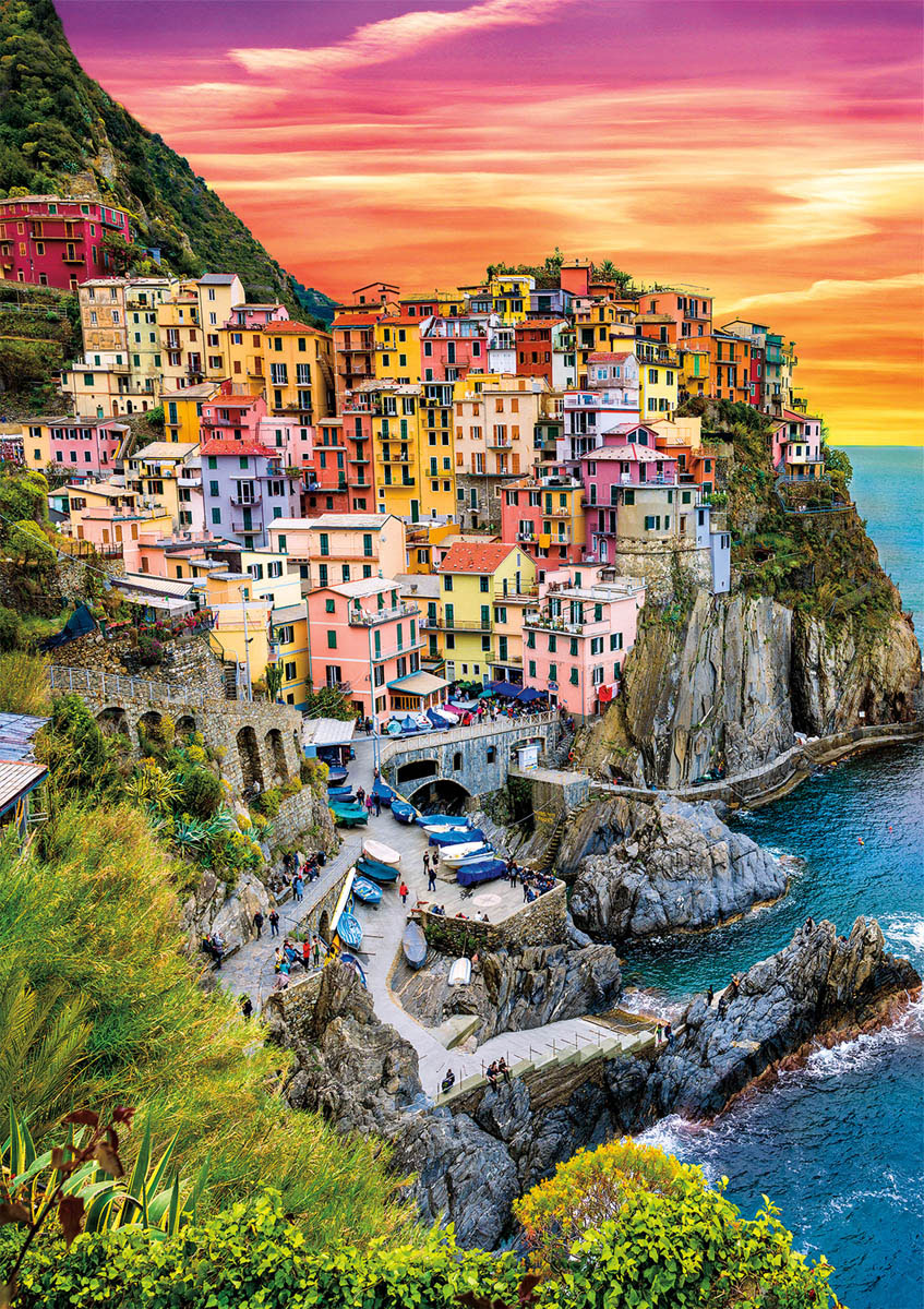 Earthpix - Cinque Terre Sunset Italy Jigsaw Puzzle