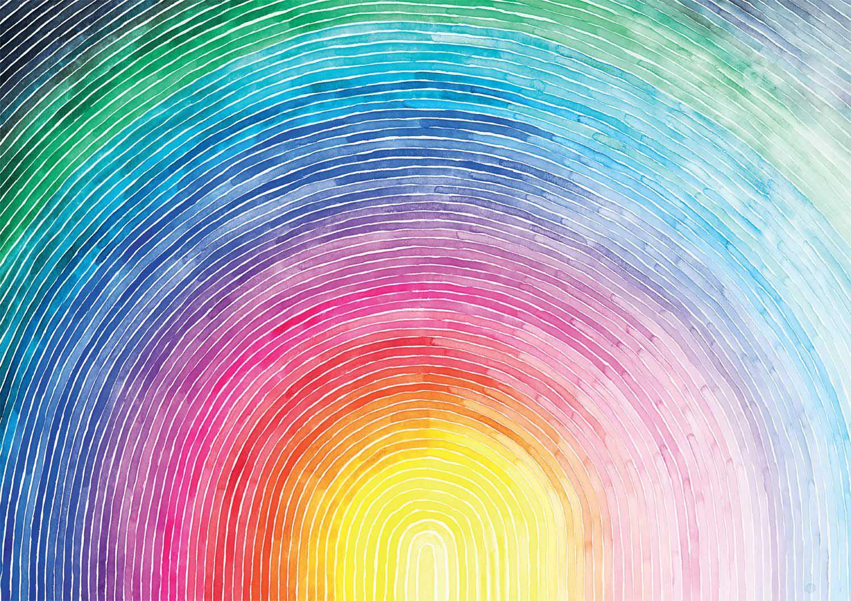 Rainbow Sunrise Abstract Jigsaw Puzzle