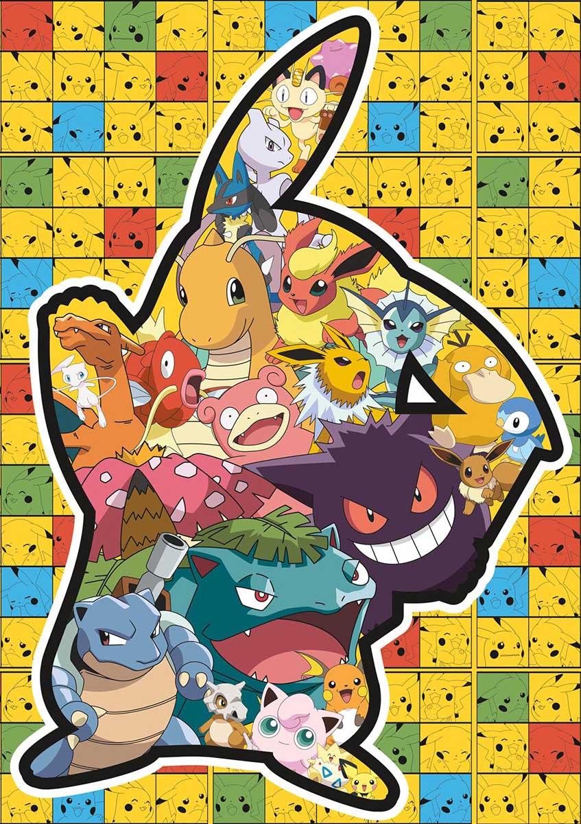 Pokemon - Pikachu Silhouette Cartoons Jigsaw Puzzle