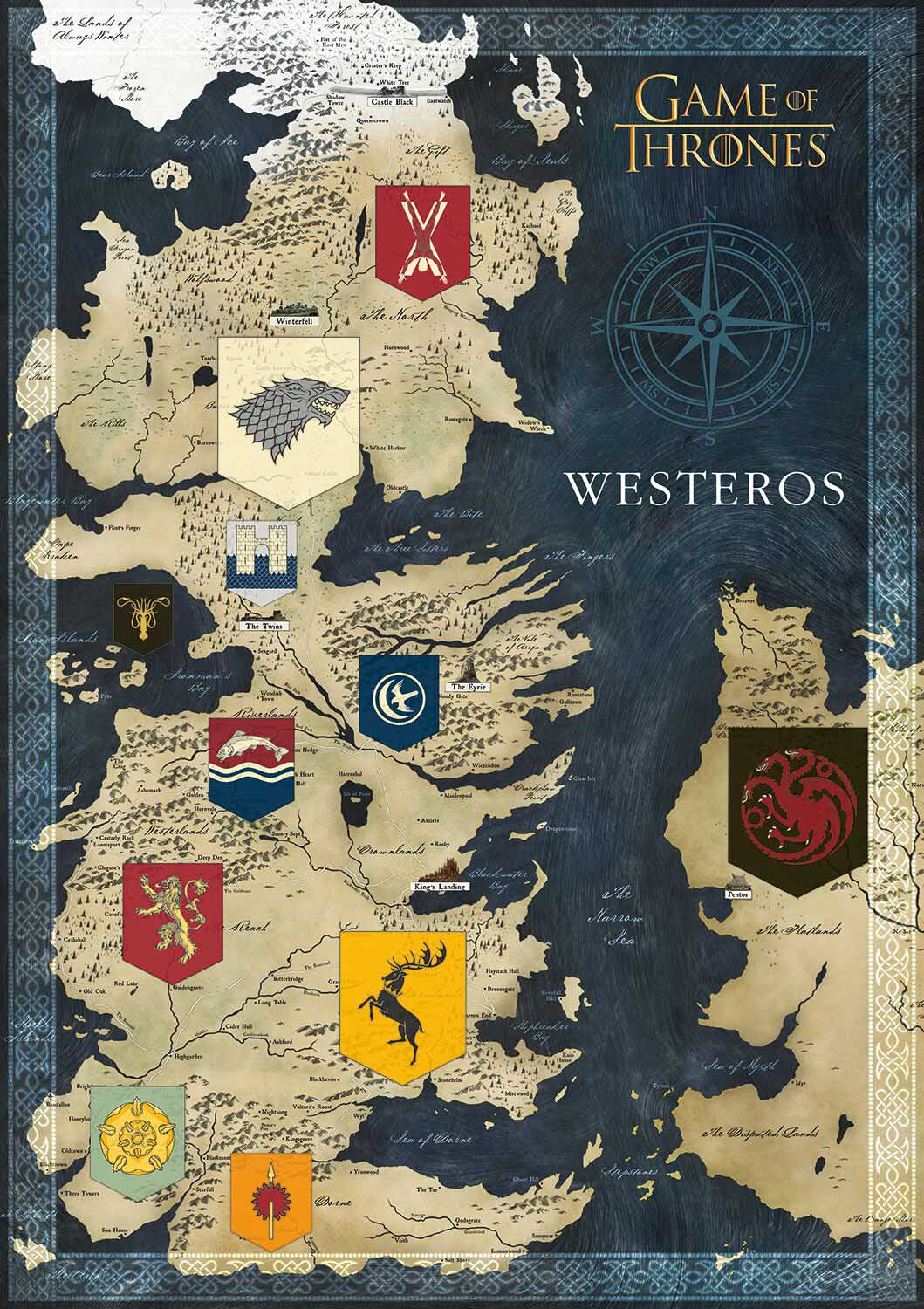 Game of Thrones - Map of Westeros Game Of Thrones D Map Westeros Puzzle on crown lands map game of thrones, detailed map of westeros game of thrones, google map game of thrones,