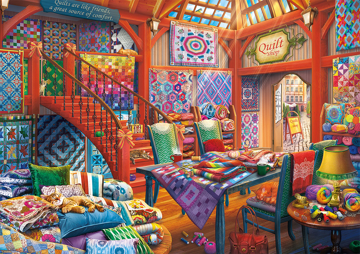 Quilt Shop - Scratch and Dent Crafts & Textile Arts Jigsaw Puzzle