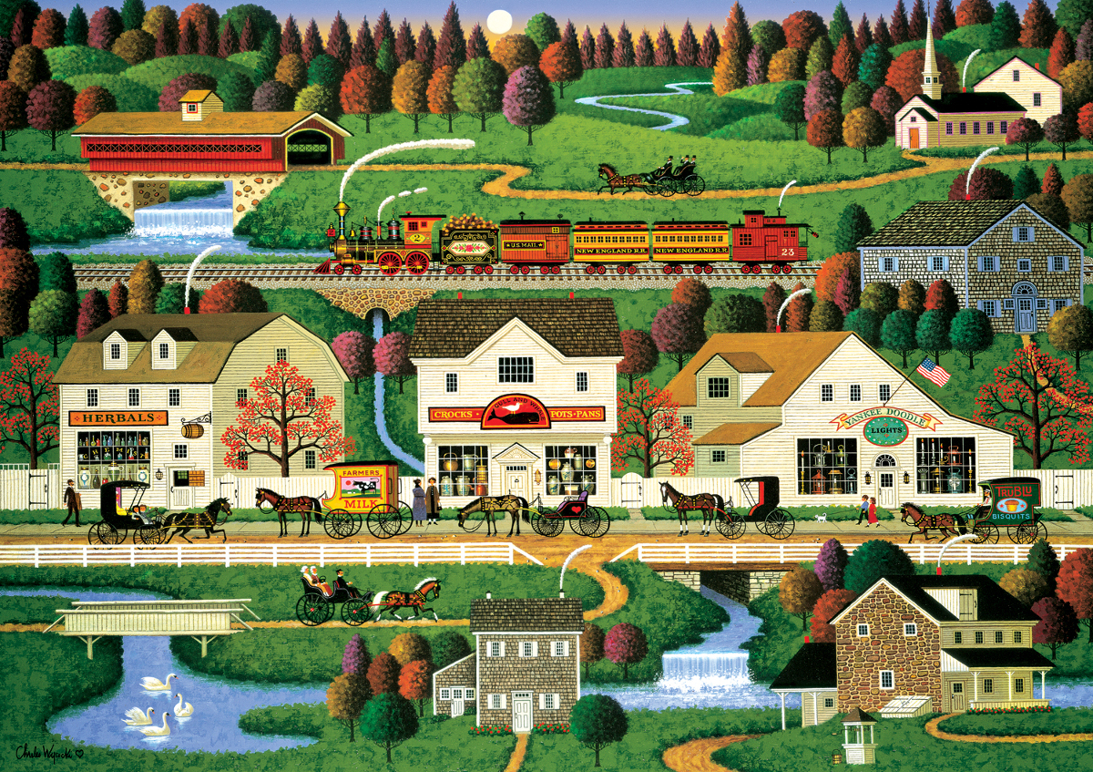 Yankee Wink Hollow Countryside Jigsaw Puzzle