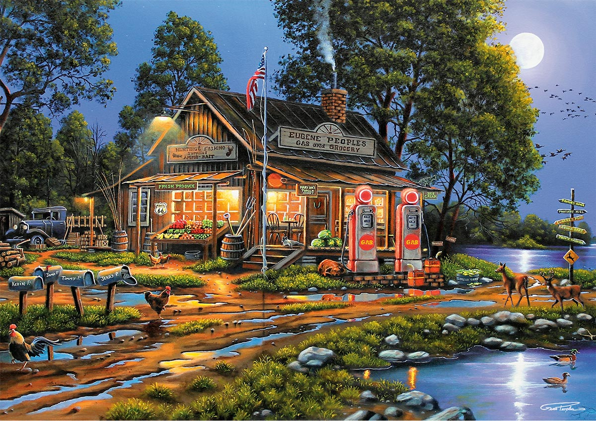 Eugene's Gas & Grocery General Store Jigsaw Puzzle