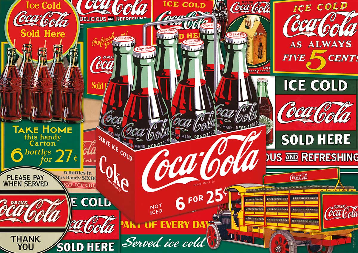 Coca-Cola Evergreen Nostalgic / Retro Jigsaw Puzzle