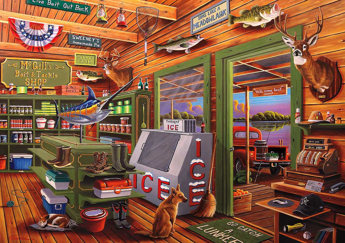 McGill's Bait & Tackle Nostalgic / Retro Jigsaw Puzzle