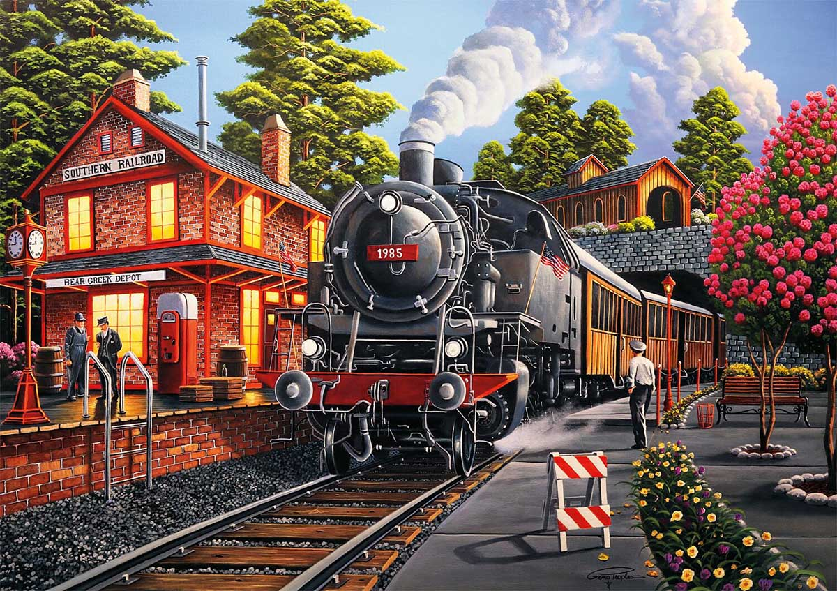 Bear Creek Depot Trains Jigsaw Puzzle