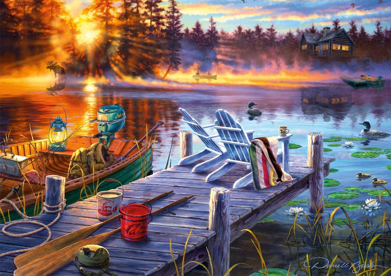 Morning Magic Fishing Jigsaw Puzzle