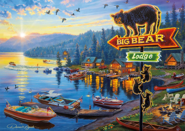 Big Bear Lodge Bears Jigsaw Puzzle
