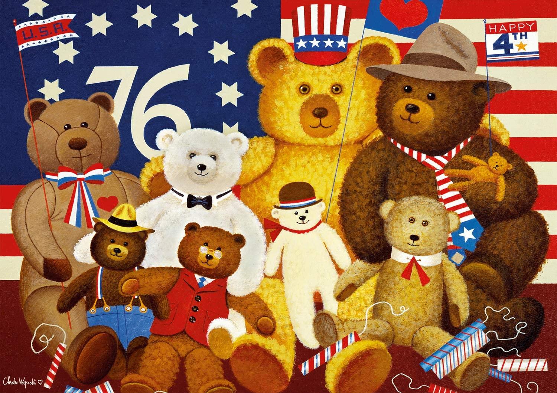 Patriotic Stuffy Bunch Patriotic Jigsaw Puzzle
